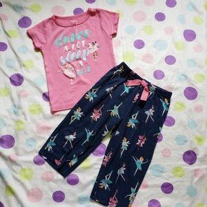 """Carter's """"Dance A Lot Sleep A Lot"""" Pajama Set"""